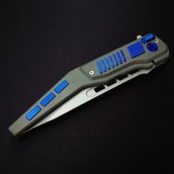 couteau artisanal français titane anodisé