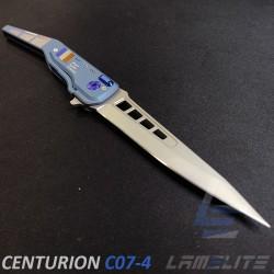 couteau d'art pliant drapeau Français. couteau flipper