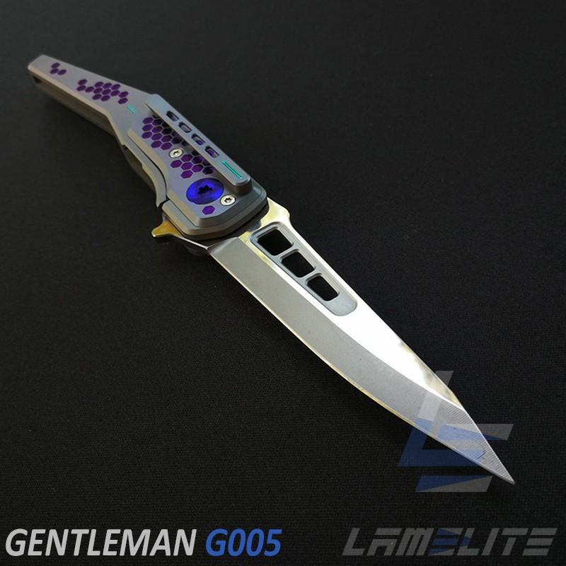 couteau pliant de luxe en titane lame de 86mm