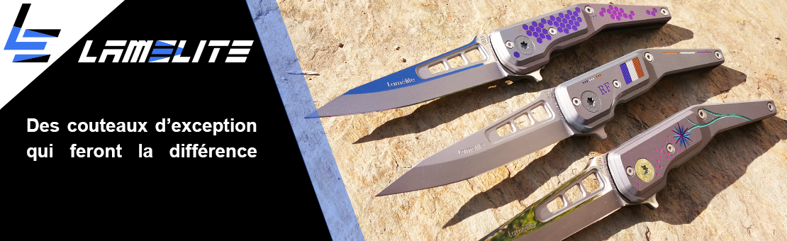 Couteau pliant de luxe en titane anodisé